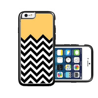 RCGrafix Brand Lemon Chevron iPhone 6 Case - Fits NEW Apple iPhone 6