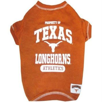 CREYON Texas Longhorns Pet Tee Shirt