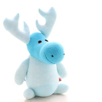 Handmade  Personalized   Moose  for kids  Stuffed Animal  baby  Plush Toy      Ready to Ship  3#