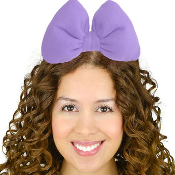 Minnie Mouse Daisy Duck Hair Bow Headband in Light Purple