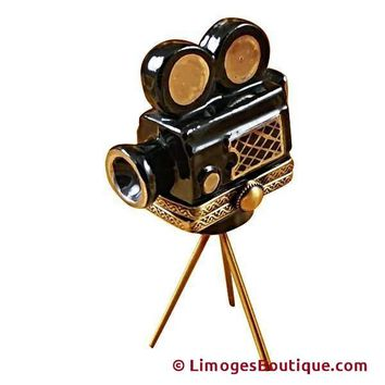 MOVIE CAMERA LIMOGES BOXES