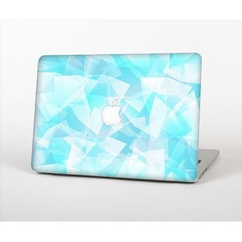 The Vector Abstract Shaped Blue Overlay Skin Set for the Apple MacBook Air 13""