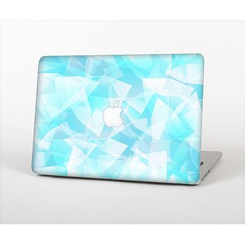 The Vector Abstract Shaped Blue Overlay Skin Set for the Apple MacBook Pro 13""