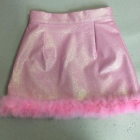 Glitters For Dinner — Made To Order - Michelle Baby Pink Glitter Skirt