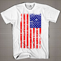 Flag  Mens and Women T-Shirt Available Color Black And White