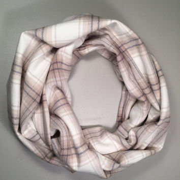 Single Loop Flannel Scarf, Plaid Infinity Scarf, Winter Scarf, Womens Scarf, Infinity Scarf, Mens Scarf, Circle Scarf, Tartan Scarf