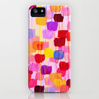 DOTTY in Pink - October Special Revisited Bold Colorful Square Polka Dots Original Abstract Painting iPhone Case by EbiEmporium | Society6