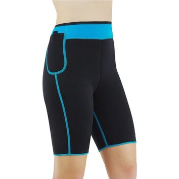 NICKY BLUE NEOPRENE PANTS