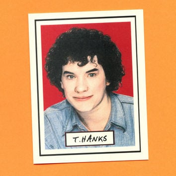 TOM HANKS THANKS  Funny Thank You Card  Original by seasandpeas