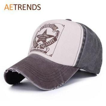 PEAPON 6 Colors ! Star Patchwork Baseball Cap Men or Women Outdoor Sport Polo Hats Z-1462