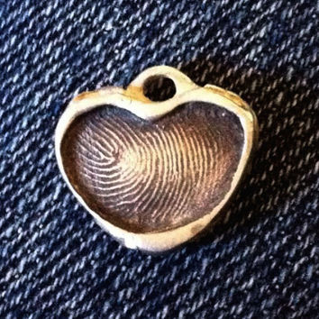 Newborn Fingerprint Heart Pendant in Sterling Silver, New Mommy Jewelry, Mother's Day Gifts, Birthstone Jewelry