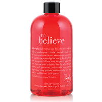 to believe | charity shower gel | philosophy