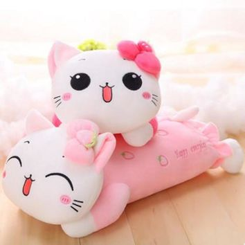 CXZYKING Hello Kitty Plush Toys Pillow KT Cat Stuffed Dolls For Girls Kids Toys Gift Animal Plush Doll Lie Prone Plush Toy