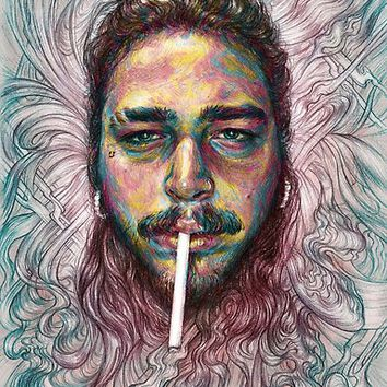 'Post Malone' Poster by Kim Dingwall