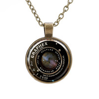 Gift Jewelry Shiny New Arrival Stylish Camera Mirror Gemstone Vintage Necklace [8026209607]