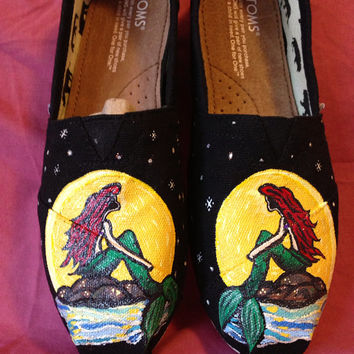 Little Mermaid Hand Painted shoes
