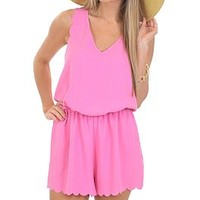 Scallop and Trot Romper