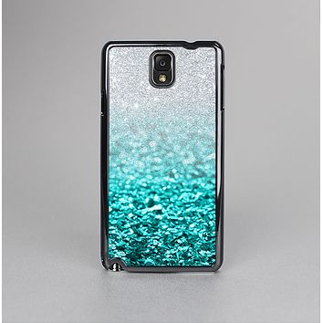 The Aqua Blue & Silver Glimmer Fade Skin-Sert Case for the Samsung Galaxy Note 3