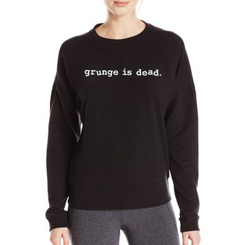grunge is dead 2017 fall winter women fashion sweatshirts funny streetwear hip hop harajuku tracksuit hoodies top brand clothing