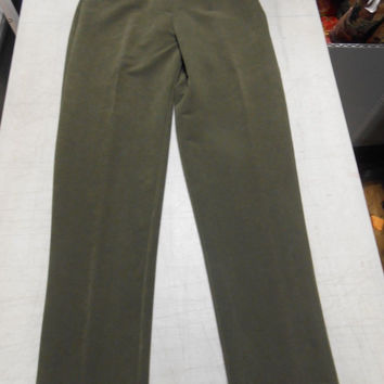 Bantry Bay Women's High Waisted Suede Like Dress Pants, Small, Olive