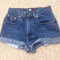 90s Tommy Hilfiger High Waisted Denim Shorts