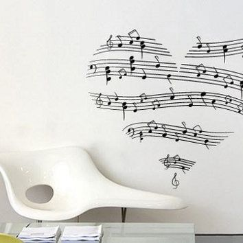 Love Music Decal for housewares