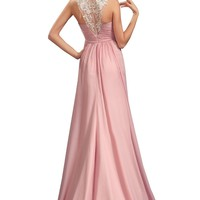 eDressit New Halter Beaded Lace Evening Dress Prom Ball Gown(02134401)