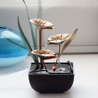 Feng Shui Desktop Water Fountain for Home Office Decoration