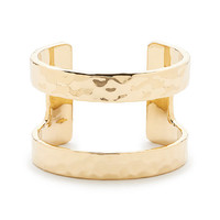 J.Crew Womens Hammered Double Cuff Bracelet