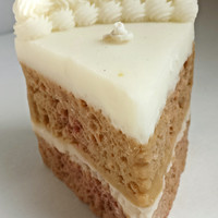 Egg Nog Cake Candle - Cake Slice Candle in Egg Nog Scent