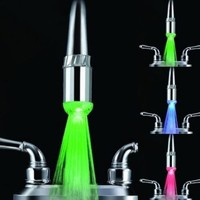 Water Glow LED Faucet Light with Temperature Sensor + Three Optional Colors:Amazon:Industrial & Scientific