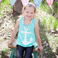 Bow Back Anchor Tank - Mint