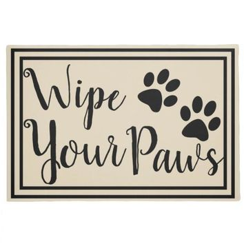 Autumn Fall welcome door mat doormat Hot Funny Wipe Your Paws Welcome s Novelty Dog Cat Paw Print Cute Floor Mats Entrance Rubber Pet Lover Home Decor Indoor AT_76_7