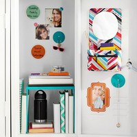 Gear-Up Multi-Diagonal Stripe Mirror With Removable Pouch