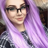 PURPLE STRAIGHT SYNTHETIC LACE WIG