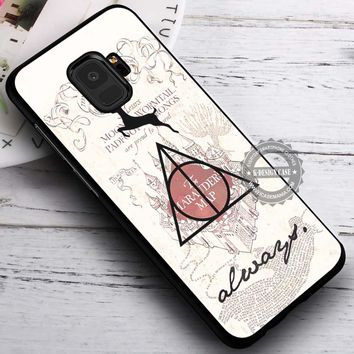 Deathly Hallows Harry Potter Marauder's Map iPhone X 8 7 Plus 6s Cases Samsung Galaxy S9 S8 Plus S7 edge NOTE 8 Covers #SamsungS9 #iphoneX