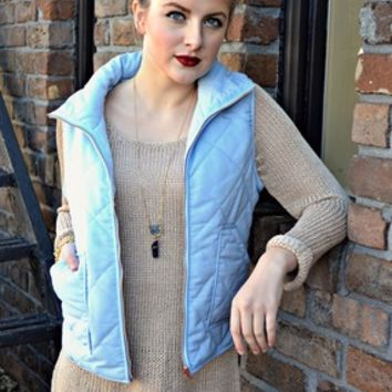 Skies are Blue - Puffer Vest