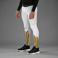 Icarus White and Gold Tights for men