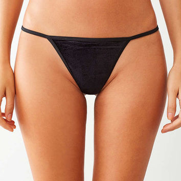 Out From Under Amelia Velvet G-String Thong | Urban Outfitters