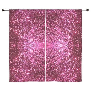 pink glitter Curtains