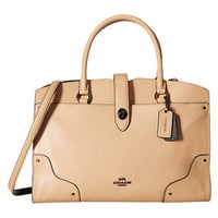 COACH Color Block Leather Mercer Satchel