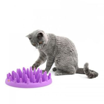 Product For Cat Catch Interactive Hard Silicone Cat Kitten Pets Slow Food Feed Non Slip Anti Gulping Feeder Bowl Gatos Cat Toys