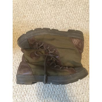 Military converse sz 11 used brn/grn