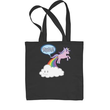 Toot Unicorn Farting Shopping Tote Bag