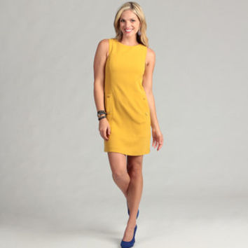 Eliza J Women's Mustard Sheath Dress | Overstock.com