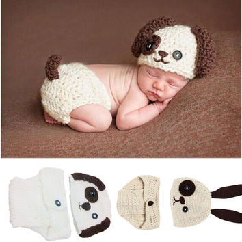 Newborn Baby Girls Boys Clothes Set Cute Crochet Knit Costume Photo Photography Prop Outfits