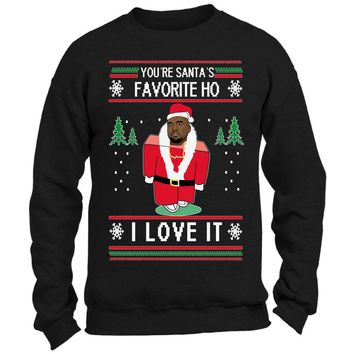 Kanye West Ugly Christmas Sweater You're Santa's Favorite Ho for Men and Women