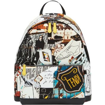 Karl Kollage Backpack by Fendi