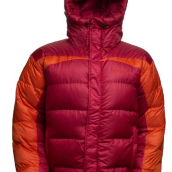 Marmot Mens Jacket Greenland Baffleled Red-Sunset Orange