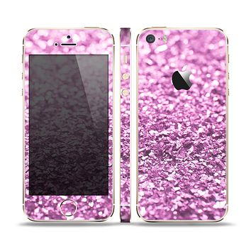 The Purple Glimmer Skin Set for the Apple iPhone 5s